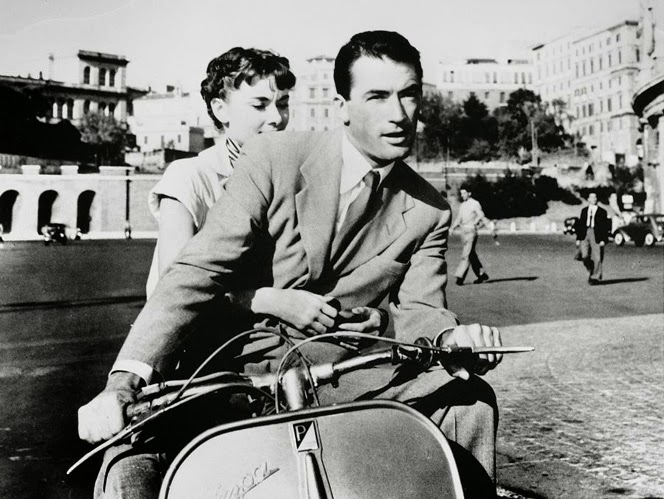 Audrey Hepburn and Gregory Peck